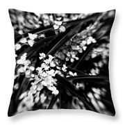 Lances In The Leaves Throw Pillow