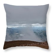 Land And Clouds Converge Throw Pillow