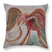 Land Octopus Throw Pillow
