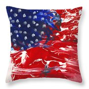 Land Of Liberty Throw Pillow