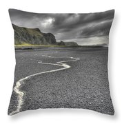 Land Of Solitude Throw Pillow