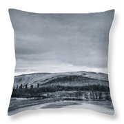 Land Shapes 11 Throw Pillow