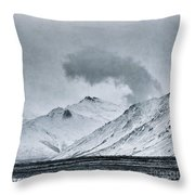 Land Shapes 17 Throw Pillow by Priska Wettstein