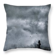 Land Shapes 5 Throw Pillow by Priska Wettstein