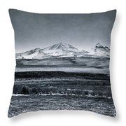 Land Shapes 7 Throw Pillow by Priska Wettstein
