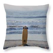 Land Surf Board Throw Pillow