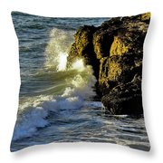 Land Versus The Sea Throw Pillow
