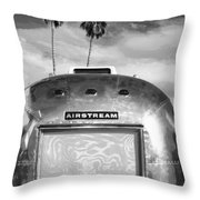 Land Yacht Bw Palm Springs Throw Pillow