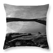 Landscape Arch Panoramic Throw Pillow
