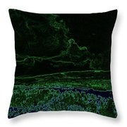 Landcape Glowing Throw Pillow