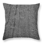 Landed Left Foot Throw Pillow