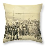 Landing Of A Military Leader Throw Pillow