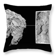 Landing Site On Comet 67pc-g In Context Throw Pillow