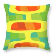 Abstract Pods Throw Pillow