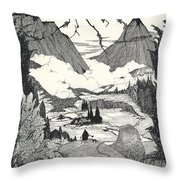 Landors Cottage Throw Pillow