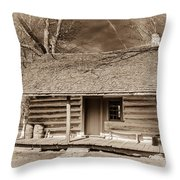 Landow Log Cabin 7d01723b Throw Pillow