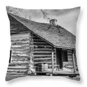 Landow Log Cabin Throw Pillow