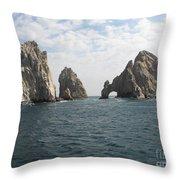 Lands End - Cabo San Lucas Mexico Throw Pillow