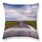 Lands End Start And Finish Line Throw Pillow