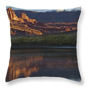 Lake 7 Throw Pillow