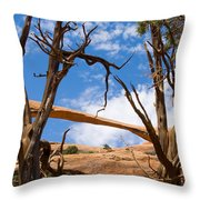 Landscape Arch - Arches National Park Throw Pillow