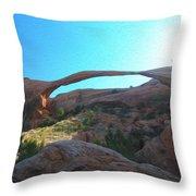Landscape Arch 2 Throw Pillow