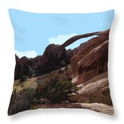 Landscape Arch In Arches National Park Throw Pillow