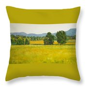 landscape art print oil painting for sale Fields Throw Pillow