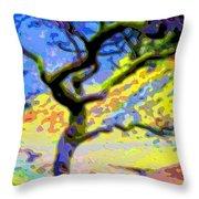 Landscape Art Tree Life Throw Pillow