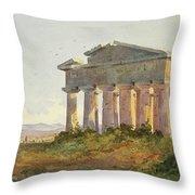 Landscape At Paestum Throw Pillow