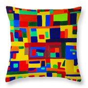 Landscape Buildings Throw Pillow