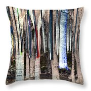 Landscape Forest Trees Throw Pillow