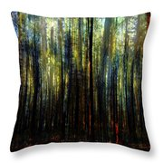 Landscape Forest Trees Tall Pine Throw Pillow