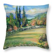 Landscape From Kavran Throw Pillow