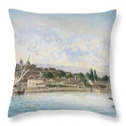 Landscape From Lake Leman To Nyon Throw Pillow