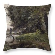 Landscape In Nijmegen. Netherlands Throw Pillow