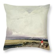 Landscape In Normandy, Traditionally Throw Pillow