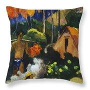 Landscape In Tahiti.mahana Maa Throw Pillow
