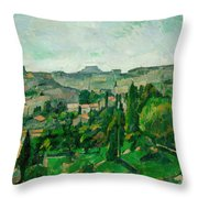 Landscape In The Ile-de-france Throw Pillow