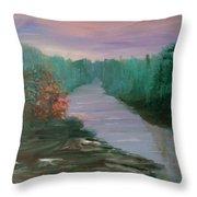 River Dreamscape Throw Pillow