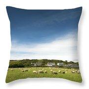 Landscape Near East Prawle In England Throw Pillow