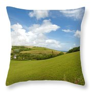 Landscape Near Hallsands In Devon Gb Throw Pillow