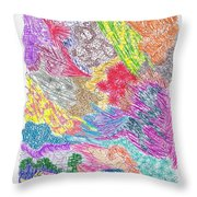 Landscape Of Color Throw Pillow