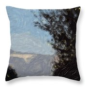 Landscape Of Fall Throw Pillow