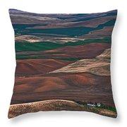 Landscape Of Rolling Farmland Steptoe Butte Washington Art Prints Throw Pillow