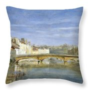 Landscape Oil On Canvas Throw Pillow