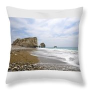 Seascape  Paphos Cyprus Throw Pillow
