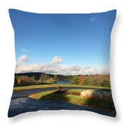 Landscape Skyview Early Morning Poconos Pa Usa America Travel Tour Vacation Peaceful Throw Pillow