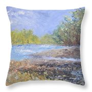 Landscape Whit River Throw Pillow