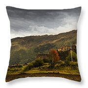 Landscape With A Castle On A Hill And A Throw Pillow